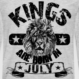 Kings Are Born In July T-Shirts - Men's Premium Long Sleeve T-Shirt