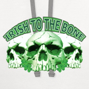 Irish to the Bone Skull T-Shirts - Contrast Hoodie