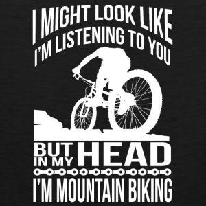In my head I'm mountain biking Baby & Toddler Shirts - Men's Premium Tank