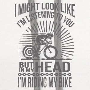 IN MY HEAD I'M RIDING MY BIKE  Baby & Toddler Shirts - Contrast Hoodie