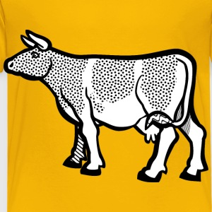 cow2 lineart - Toddler Premium T-Shirt