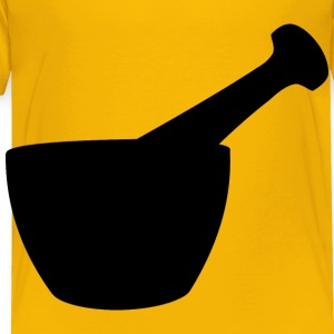 Mortar And Pestle Silhouette - Toddler Premium T-Shirt