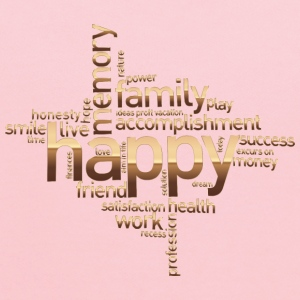 Happy Family Word Cloud No Background - Kids' Hoodie
