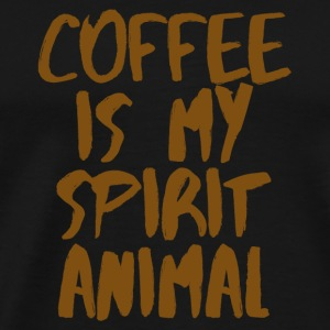 Coffee is my spiritual animal Caps - Men's Premium T-Shirt