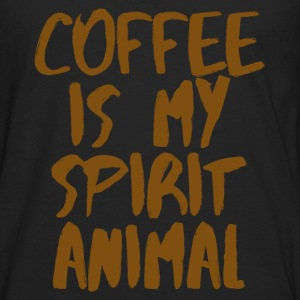 Coffee is my spiritual animal T-Shirts - Men's Premium Long Sleeve T-Shirt