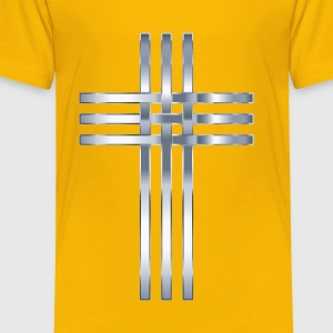 Interlocked Stylized Titanium Cross No Background - Toddler Premium T-Shirt
