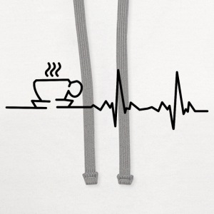 my heart beats for coffee T-Shirts - Contrast Hoodie