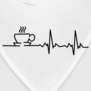 my heart beats for coffee T-Shirts - Bandana