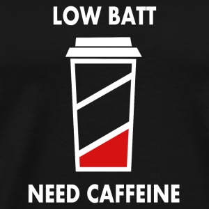 low batt need coffeine Caps - Men's Premium T-Shirt