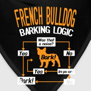 French Bulldog Barking Logic T-Shirt T-Shirts - Bandana