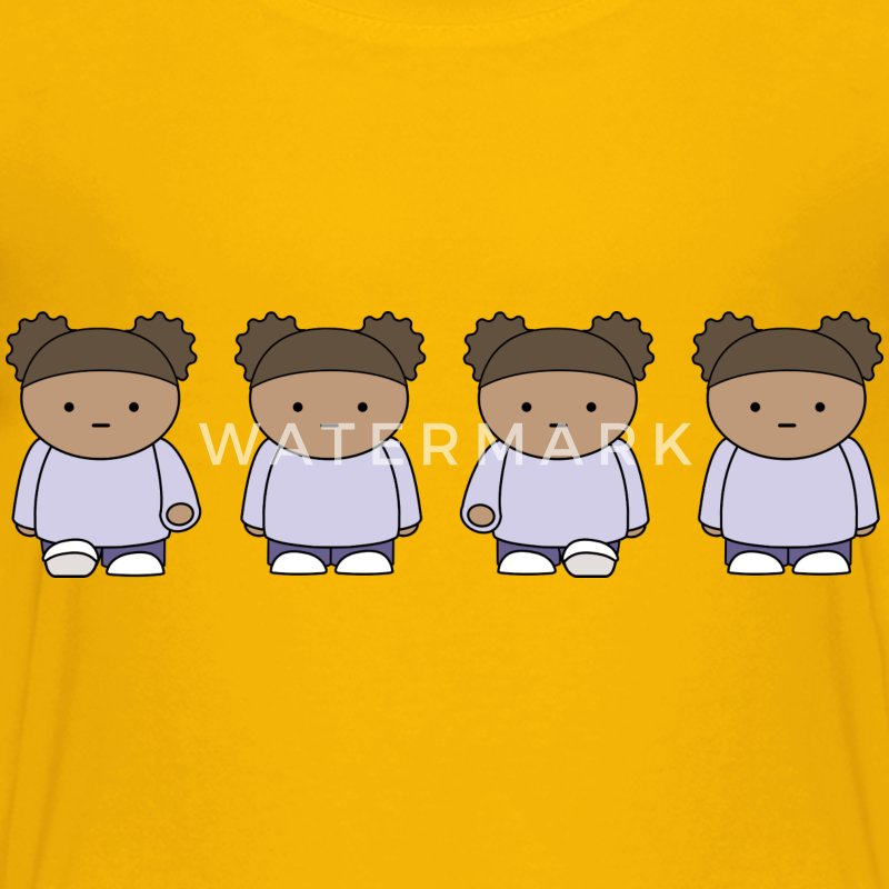 Walking Girl Sprite Sheet - Kids' Premium T-Shirt