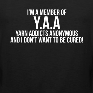 Member of Y.A.A. Yarn Addicts Anonymous Crochet  T-Shirts - Men's Premium Tank