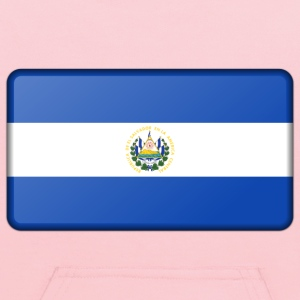 Flag of El Salvador (bevelled) - Kids' Hoodie