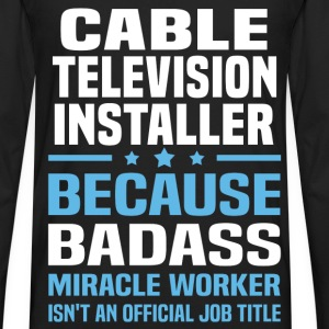 Cable Television Installer Tshirt - Men's Premium Long Sleeve T-Shirt