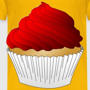 Red Frosting Cupcake - Toddler Premium T-Shirt