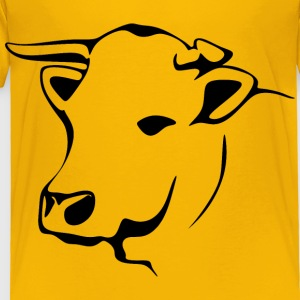 Stylized Cow Line Art - Toddler Premium T-Shirt