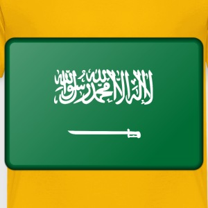 Saudi Arabia flag (bevelled) - Toddler Premium T-Shirt