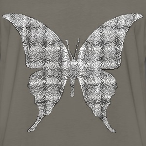 Butterfly Silhouette 6 Maze - Men's Premium Long Sleeve T-Shirt