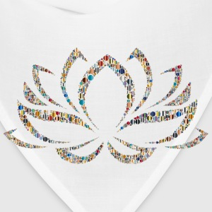 Colorful Lotus Flower Circles 5 - Bandana