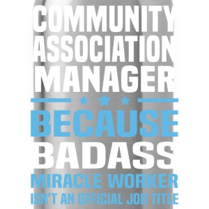 Community Association Manager Tshirt - Water Bottle