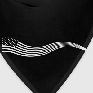 Wavy USA Flag Banner Variation 2 - Bandana
