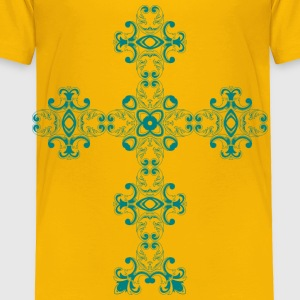 Vintage Floral Design Mark II Cross - Toddler Premium T-Shirt
