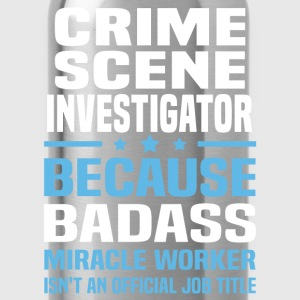 Crime Scene Investigator Tshirt - Water Bottle
