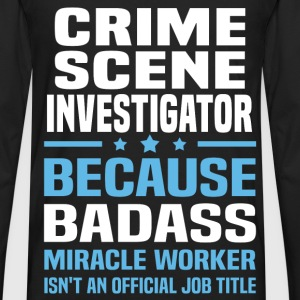 Crime Scene Investigator Tshirt - Men's Premium Long Sleeve T-Shirt