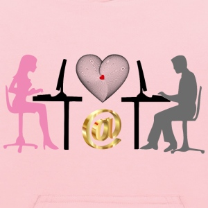 Woman And Man Online Relationship - Kids' Hoodie