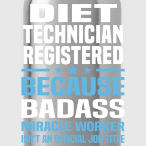 Diet Technician Registered Tshirt - Water Bottle