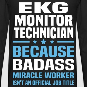 EKG Monitor Technician Tshirt - Men's Premium Long Sleeve T-Shirt