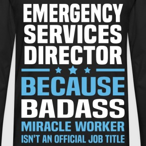 Emergency Services Director Tshirt - Men's Premium Long Sleeve T-Shirt