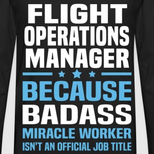 Flight Operations Manager Tshirt - Men's Premium Long Sleeve T-Shirt