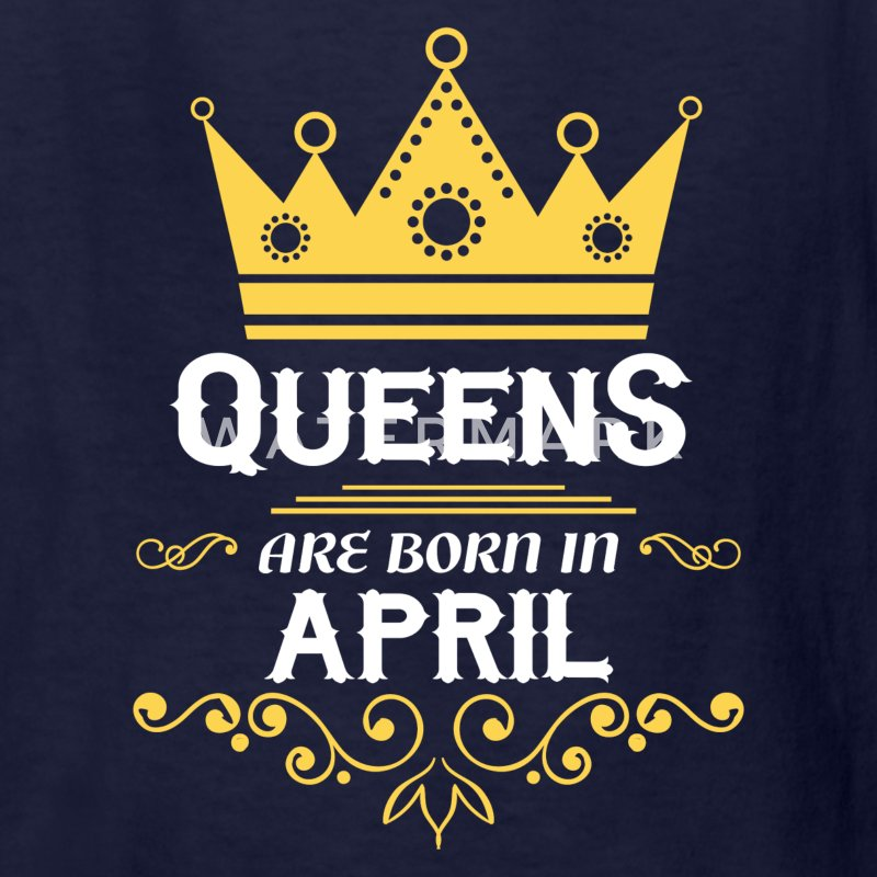 queens are born in april Kids' Shirts - Kids' T-Shirt