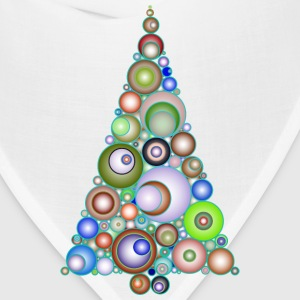 Colorful Abstract Circles Christmas Tree 4 - Bandana