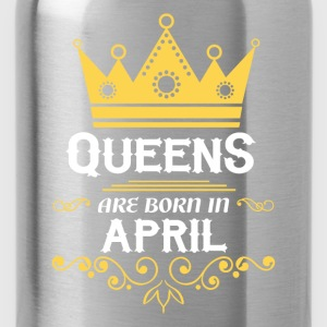 queens are born in april Baby & Toddler Shirts - Water Bottle