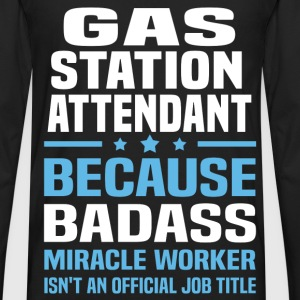 Gas Station Attendant Tshirt - Men's Premium Long Sleeve T-Shirt