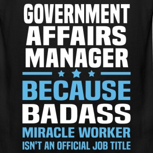 Government Affairs Manager Tshirt - Men's Premium Tank