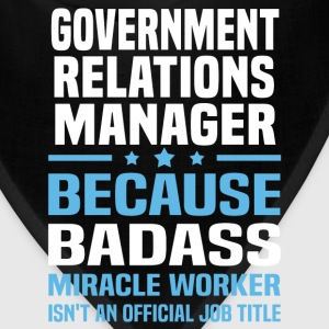 Government Relations Manager Tshirt - Bandana