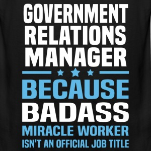 Government Relations Manager Tshirt - Men's Premium Tank