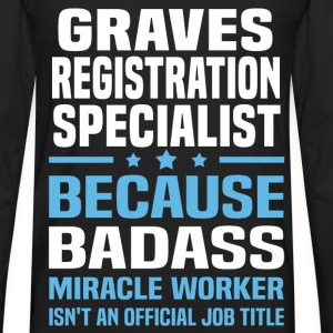 Graves Registration Specialist Tshirt - Men's Premium Long Sleeve T-Shirt
