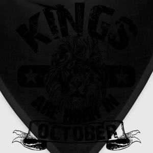 Kings Are Born In October T-Shirts - Bandana