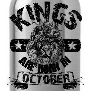 Kings Are Born In October T-Shirts - Water Bottle