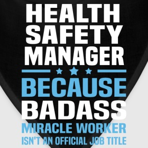 Health Safety Manager Tshirt - Bandana