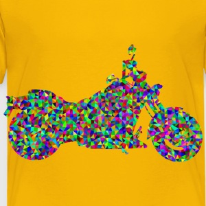 Prismatic Low Poly Motorcycle - Toddler Premium T-Shirt