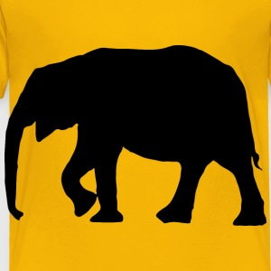 Elephant Silhouette - Toddler Premium T-Shirt