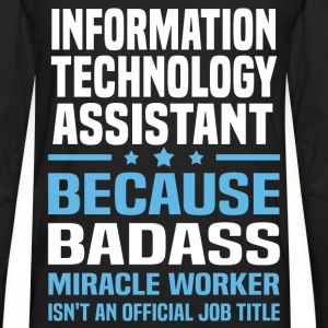 Information Technology Assistant Tshirt - Men's Premium Long Sleeve T-Shirt