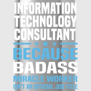 Information Technology Consultant Tshirt - Water Bottle