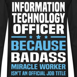 Information Technology Officer Tshirt - Men's Premium Long Sleeve T-Shirt