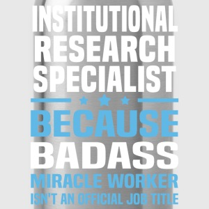 Institutional Research Specialist Tshirt - Water Bottle